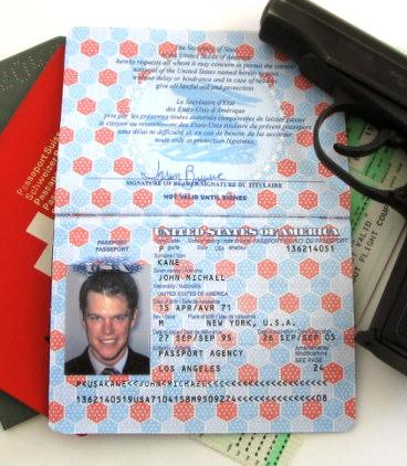 Jason Bourne's Passports Prop Replicas