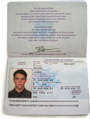 Jason Bourne S Passports