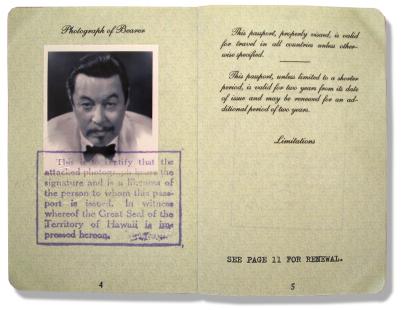Indy >> Charlie Chan's Passport