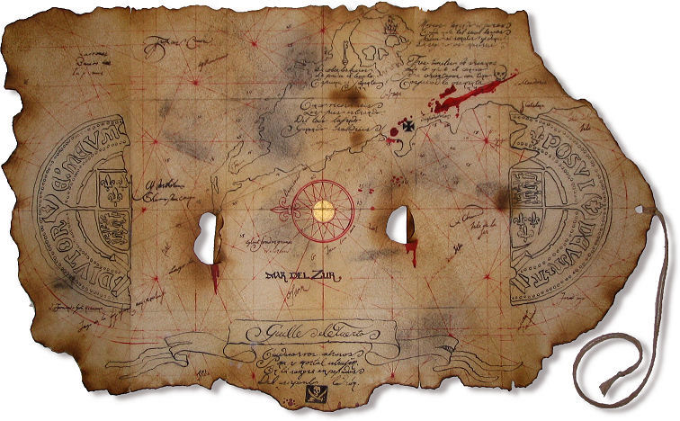 the goonies treasure map replica